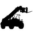 telescopic handler silhouette vector image vector image