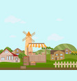 town or village architecture modern flat style vector image