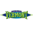 Vermont The Green Mountain State vector image vector image