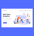 web design flat modern template - seo analytics vector image
