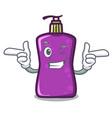 wink shampo character cartoon style vector image