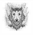 wolf headphone particle vector image vector image
