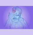 woman headache vector image