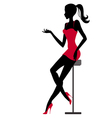 Girl sits in bar vector image