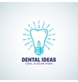 Dental Ideas Abstract Logo Template with vector image
