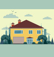 private house with garage vector image