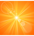 Abstract orange background with sun rays vector image