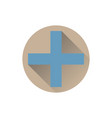 blue plus icon vector image