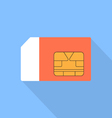Sim card of a flat design vector image