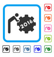 2016 working man framed icon vector image vector image