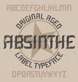 absinthe label font design vector image vector image