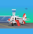 airplane park at airport vector image