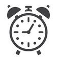 alarm clock solid icon time and deadline vector image vector image