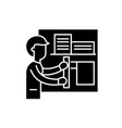architect black icon sign on isolated vector image vector image