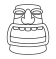 aztec idol icon outline style vector image vector image