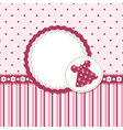 Baby girl background vector image vector image