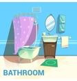 Bathroom Retro Design vector image