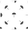 beach umbrella pattern seamless black vector image vector image