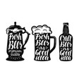 beer ale label set brew drink mug bottle icon vector image vector image