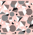 black and pale rose 3d geometry shapes vector image