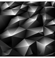 Black polygonal abstract background vector image vector image