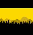 black silhouette of city and mountains vector image vector image