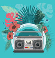 boombox tropical party poster vector image vector image