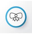 bow icon symbol premium quality isolated vector image