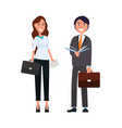 business people elegant woman with briefcase and vector image