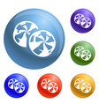 candy swirl icons set vector image vector image