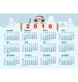 Christmas calendar Monkey in santa hat symbol vector image vector image