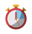 colorful silhouette of stopwatch icon without vector image vector image