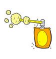 comic cartoon aerosol spray can vector image vector image