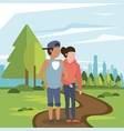 couple man and woman young vector image vector image