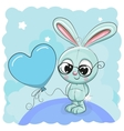 Cute Bunny with balloon vector image vector image