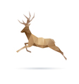 Deer abstract isolated vector image