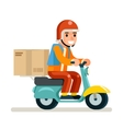 Delivery Courier Scooter Symbol Box Icon Concept vector image vector image