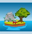 desert island in ocean vector image vector image