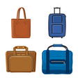 design of suitcase and baggage logo set of vector image