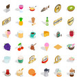 different beverage icons set isometric style vector image vector image