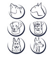 dog head logo elements vector image
