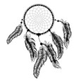dream catcher silhouette vector image vector image