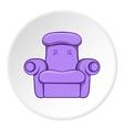 Easy armchair icon cartoon style vector image vector image