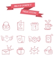 Element valentine icons collection stock vector image vector image