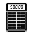 financial calculator icon simple style vector image vector image
