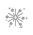 fire work icon design vector image