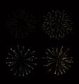 fireworks set gold beautiful golden vector image