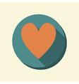 flat web icon heart vector image