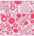 floral seamless pattern sketch for your design vector image vector image