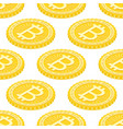 geometric 3d background with bitcoins vector image